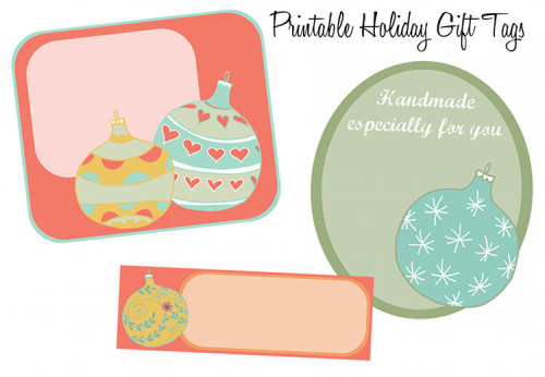 Free Christmas Ornament Printable Holiday Gift Tags