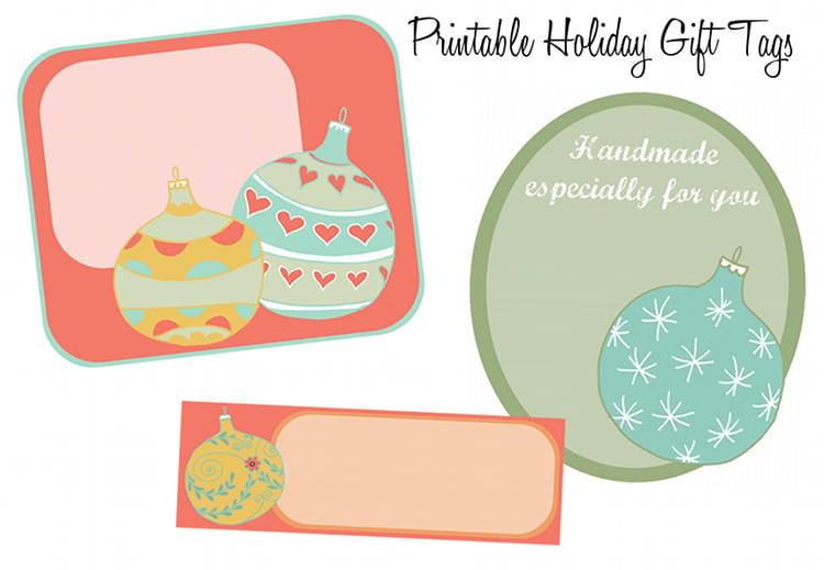 - Printable Christmas Tree Ornament Holiday Gift Tags