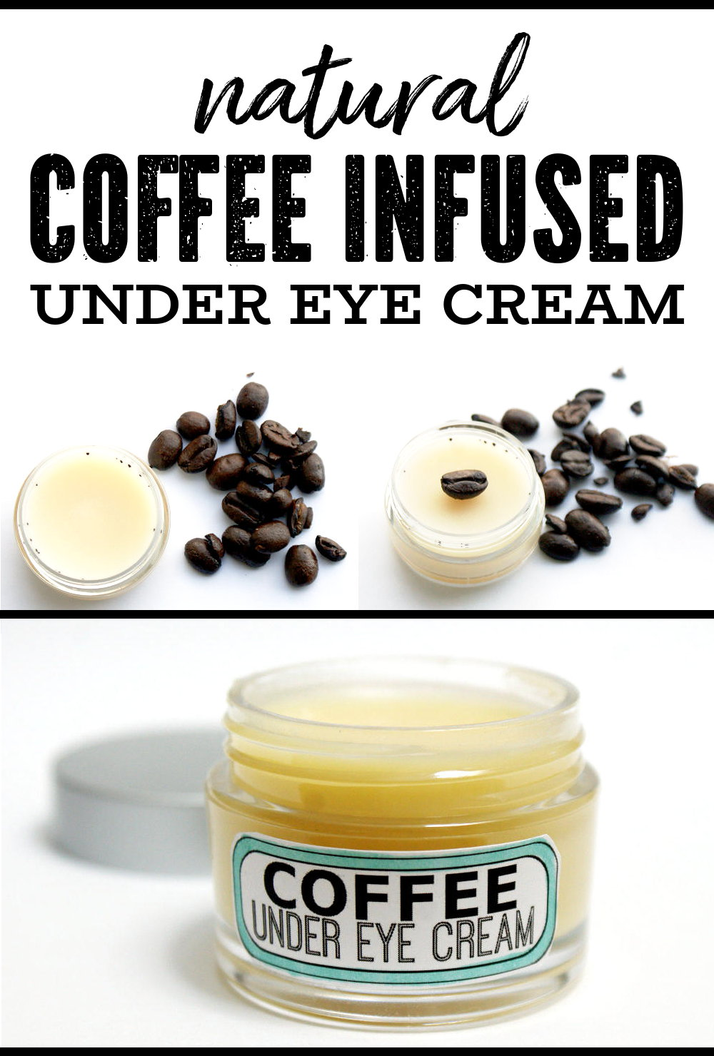 Natural DIY Coffee Under Eye Cream Recipe