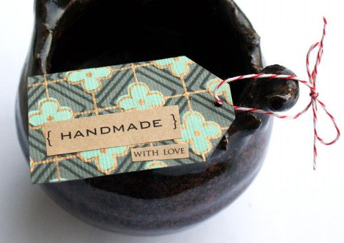 Handmade with Love Gift Tag DIY