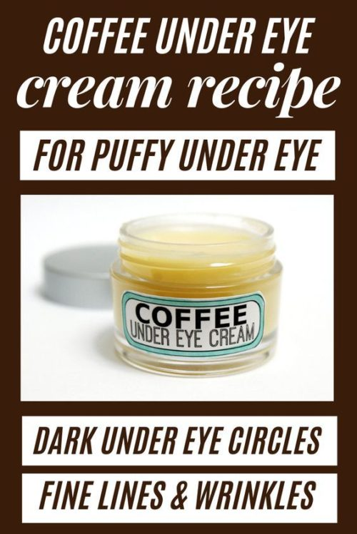 DIY Coffee Eye Cream: A Natural Puffy Eyes Remedy for Natural Beauty. Make this DIY coffee eye cream as a remedy for puffy eyes. Made with homemade coffee infused oil to help tighten skin and reduce under eye puffiness, this coffee under eye cream can also help reduce the appearance of dark circles, wrinkles & fine lines associated with aging. Not only is this DIY coffee eye cream for eye puffiness easy to make, this beauty hack also saves you money over time.