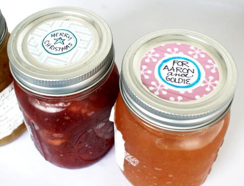 DIY Washi Tape Mason Jar Gift Tag Labels for Last Minute Homemade Christmas Gifts