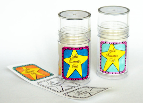 DIY New Year's Gala Shimmer Sticks with Printable Labels