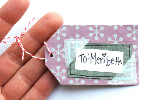 Cute and Simple Washi Tape Gift Tags