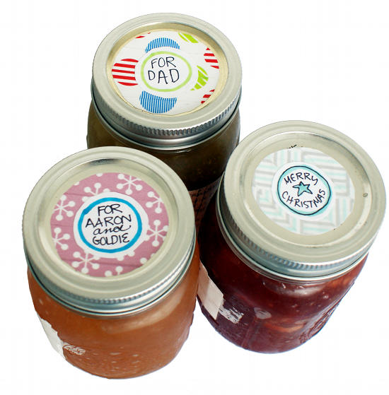 DIY Holiday Washi Tape Mason Jar Gift Tags