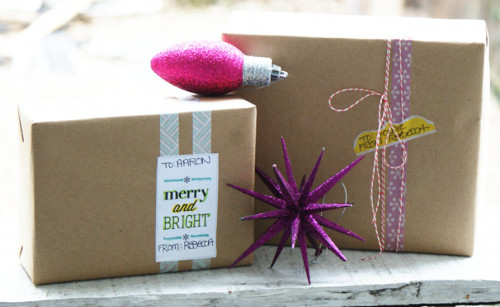 DIY Washi Tape Wrapped Holiday Gifts