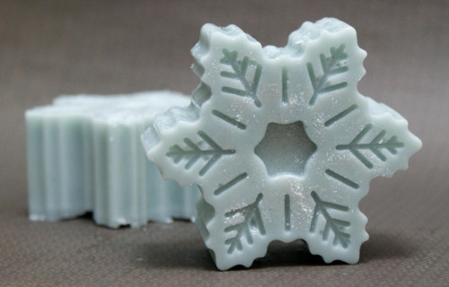 DIY Handmade Winter Snowflake Solid Lotion Bar Recipe
