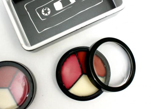 DIY Handmade Natural Tri-Color Lip Balm Recipes - Cute Homemade Gift Idea for Valentine's Day