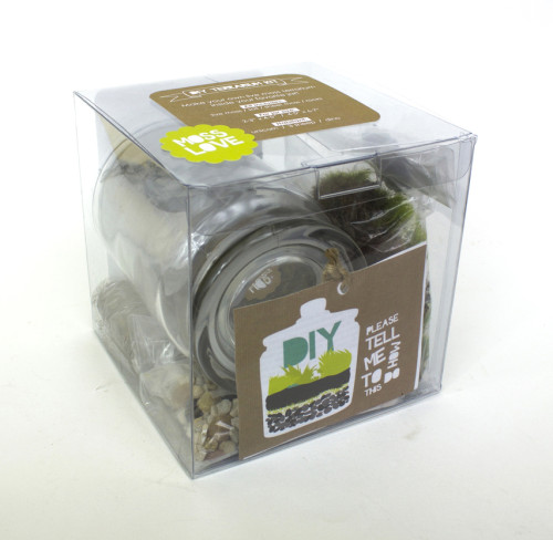 Moss Love DIY Terrarium Kit - Great Handmade Gift Idea for Kids and DIY-ers