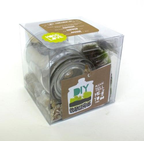 Moss Love DIY Terrarium Kit - Great Handmade Gift Idea for Kids and DIY-ers