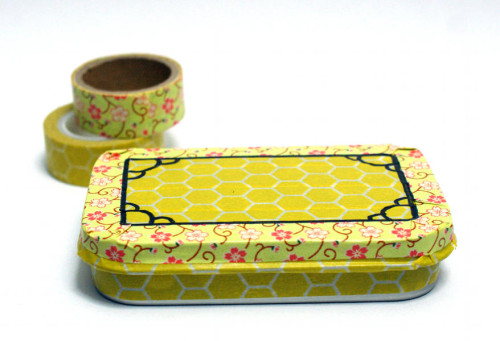 DIY Washi Tape Craft Project for a Decorative Gift Tin