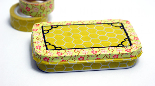 Homemade Gift Tins Decorated with Washi Tape