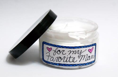DIY Lightly Scented Face Cream for Men - Handmade Gift Idea for Guys