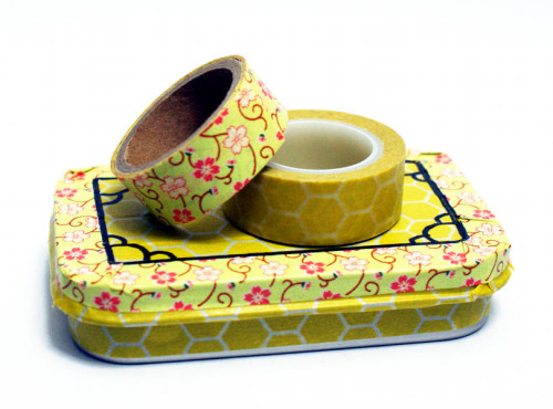 Easy DIY Washi Tape Decorated Gift Tin for Spring Birthdays or Easter Basket Gifts