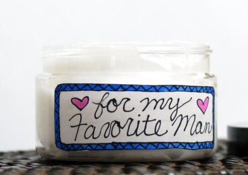 Homemade Gift Idea for Guys - Handmade DIY Face Cream for Men