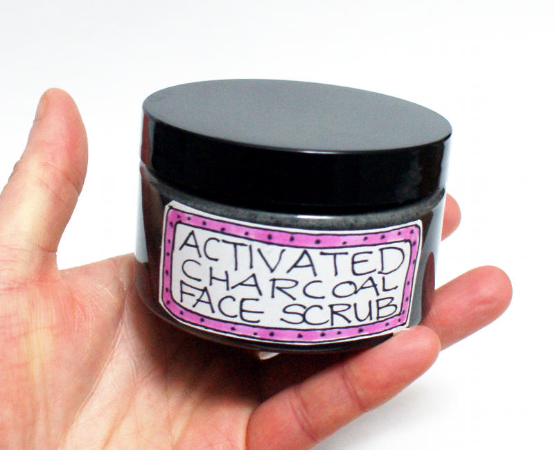 DIY Natural Activated Charcoal Facial Scrub and Cleanser Recipe for Acne Prone Skin