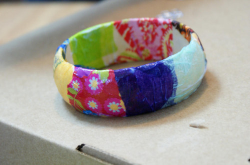 DIY Decoupage Collage Bracelet for Kids