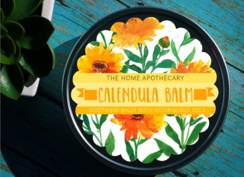 Calendula Balm from The Home Apothecary made with handcrafted organic calendula oil.