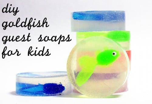DIY Homemade Goldfish Soaps for Kids