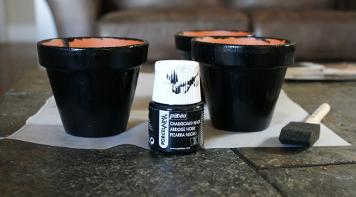 How to Make Chalkboard Planters