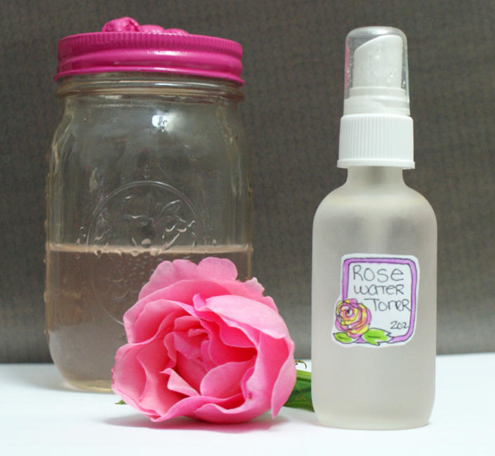 DIY Rosewater Toner with Essential Oils