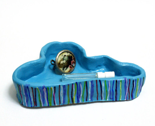 DIY Decorative Clay Cloud Jewelry or Trinket Dish