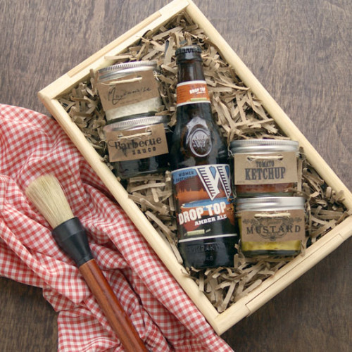 DIY Father's Day Gift Idea - BBQ Gift Basket with Free Printable for Dad