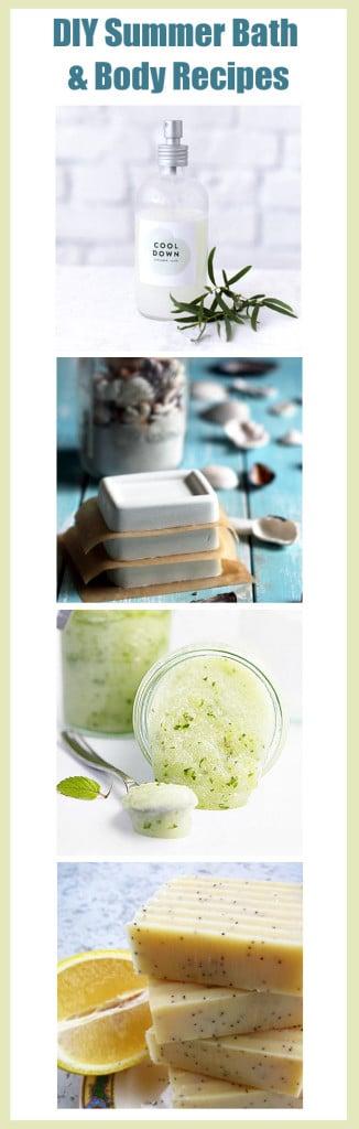 DIY Summer Bath and Body Recipes - Natural Beauty DIY's and More