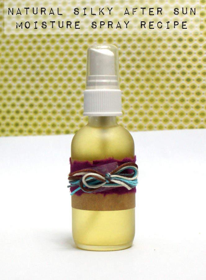 Spray on after sun moisturizer recipe! Quench parched sunburned skin with this easy spray on silky after sun moisturizer recipe. Hemp and jojoba oils naturally moisturize skin without clogging pores while cyclomethicone helps give this after sun moisturizer a silky smooth feel that's not heavy or greasy.