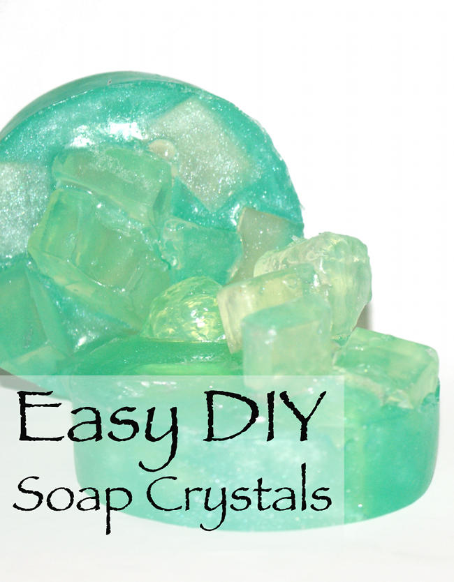 Soapmaking Tutorial - Easy DIY Soap Crystals - Great project for kids!