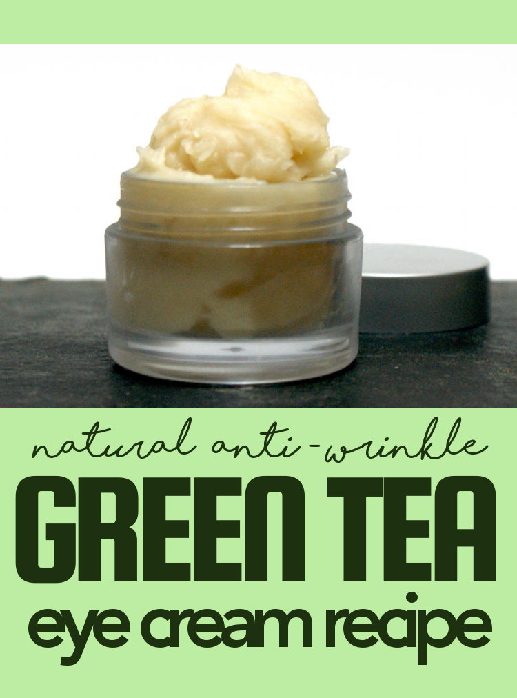 This natural anti-wrinkle green tea eye cream recipe is formulated using a combination of oils with anti-aging properties like rosehip seed oil & green tea.