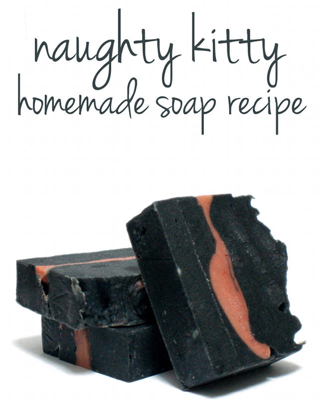 Naughty Kitty Homemade Cold Process Soap Recipe with Australian Midnight Black Clay