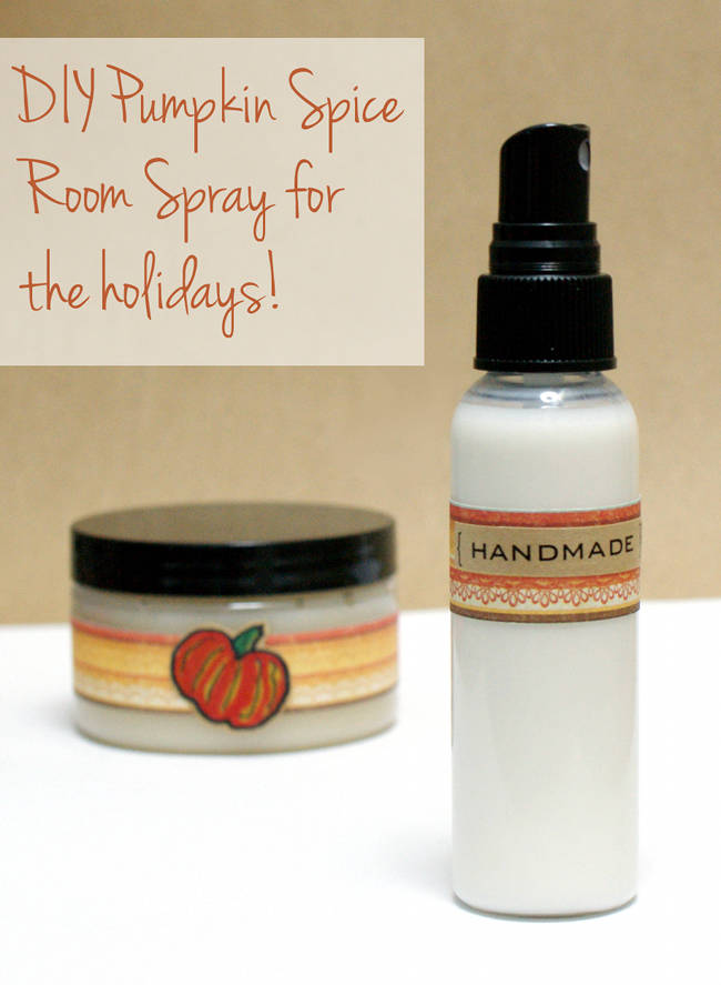 Create your own easy fall inspired DIY pumpkin spice room spray!