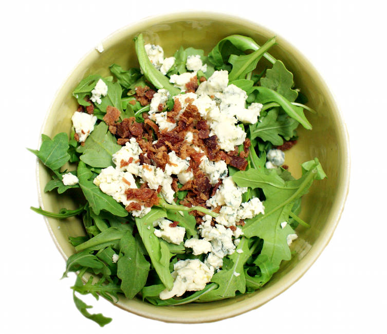 Homemade Blue Cheese and Bacon Arugula Salad Recipe