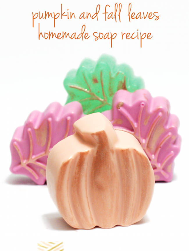 Easy Homemade Melt and Pour Pumpkin and Leaf Fall Soap Recipes