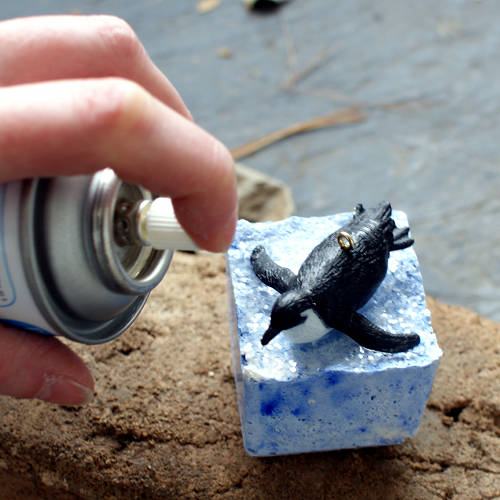 Seal your DIY penguin Christmas ornaments with a clear acrylic sealer.