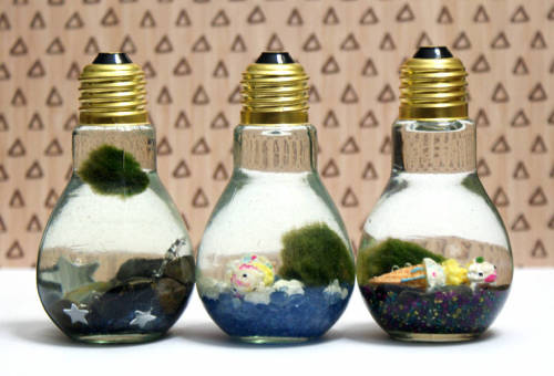These easy Japanese moss ball DIY light bulb aquariums make wonderful last minute homemade gifts!