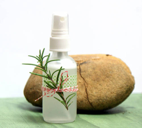 Natural essential oil home and linen spray recipe. This easy DIY Christmas Room Spray recipe boasts the fresh, deodorizing fragrance of rosemary and fir needle!