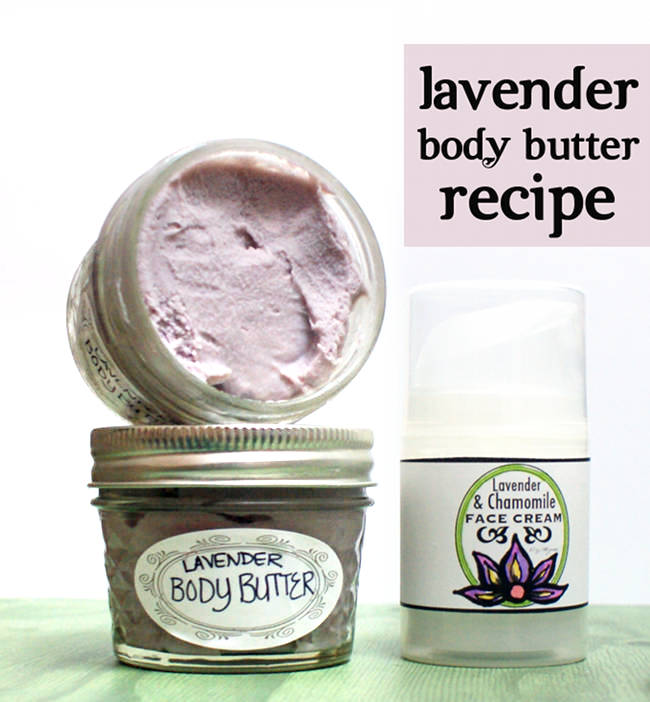 DIY Lavender Body Butter! This non-greasy lavender body butter recipe is easy to craft and makes wonderful homemade gift idea. A touch of natural neem oil is added for it's antiviral, antibacterial and antifungal properties that work together to promote skin health. #diy #bodybutter #lavender #giftidea #crafts #skincare