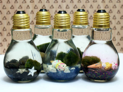 "DIY Light Bulb Aquariums for Marimo Moss Balls that Kids Can Make! Plus more DIY kids crafts projects to keep the kids occupied so you can enjoy some ""me"" time!"