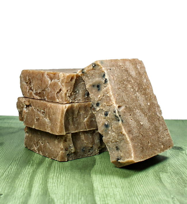 This palm free cold process soap recipe is scented with a pepper fragrance oil that's also blended with patchouli, clove and cinnamon essential oils. The spicy fragrance blend of this palm free cold process soap recipe makes it suitable for either sex due to it's unisex scent.