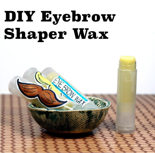 This DIY eyebrow shaper wax is easy to make and contains nourishing natural ingredients. And using lip balm tubes allows for easy pencil like application!