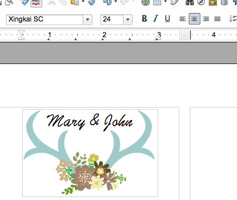 How to make your own labels for DIY wedding soap favors using the free open source program OpenOffice.