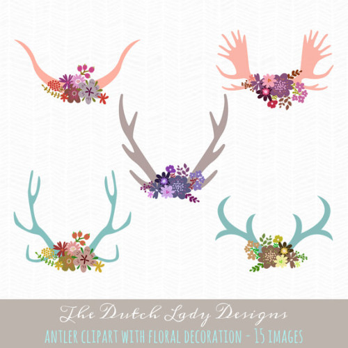 This Antler Clipart from The Dutch Lady Designs works beautifully when incorporated into labels for DIY wedding soap favors.