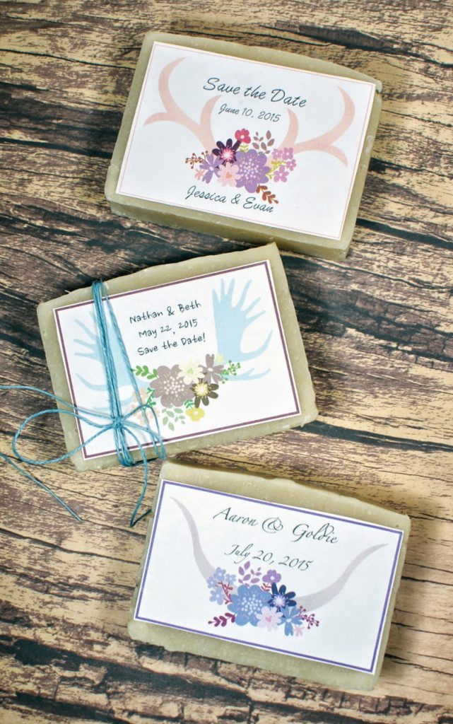 Learn how to make DIY Wedding Soap Favors and unique DIY Save the Date Soaps plus two homemade soap recipes for mango & coconut milk soaps!