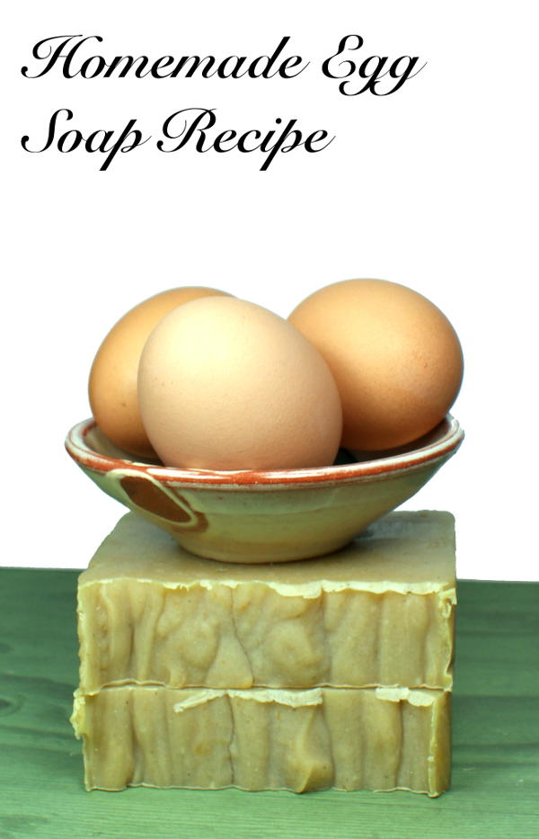 This homemade cold process egg soap recipe is made with egg yolks. Eggs have long offered skin care benefits that include tightening skin, shrinking pores, and calming redness and breakouts. In cold process soap they also help to create a rich, thick lather.