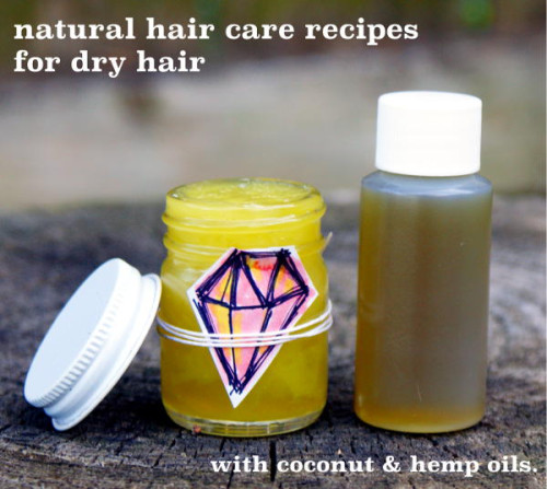 These natural hair care recipes are just what your hair ordered! Easy to make hair oil recipe for dry hair and a hair mask recipe for dry, damage and frizzy hair.