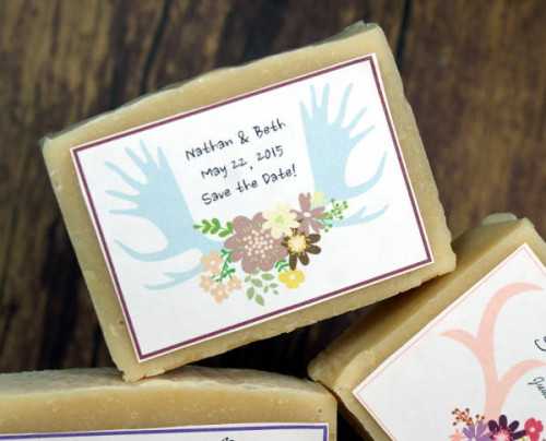 DIY Save the Date Soaps for your DIY Wedding - or make DIY wedding soap favors!