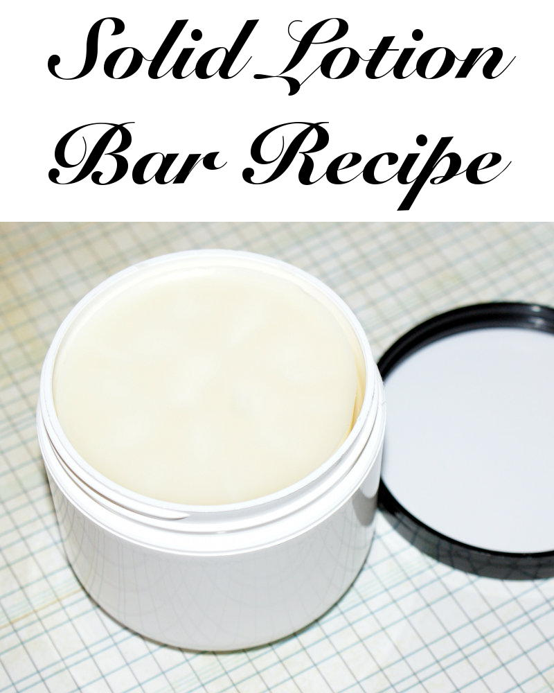 This homemade solid lotion bar recipe helps you say goodbye to dry skin while at the same time ditching that cliche plastic bottle of lotion.