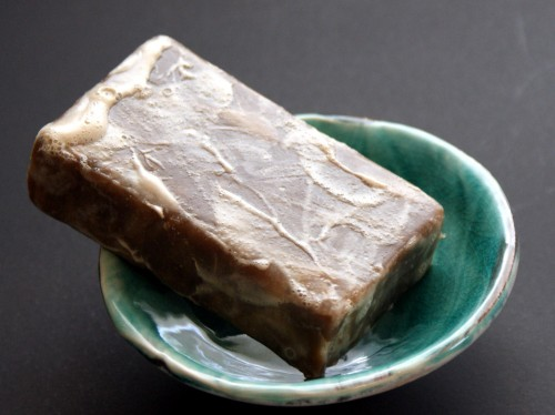 This homemade coffee soap recipe has a rich, super creamy lather and is extra conditioning!